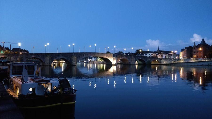 Night Illuminated Cityscape Clear Sky Taking Photos ❤ Eyemphotography City Tranquility Namur Belgium