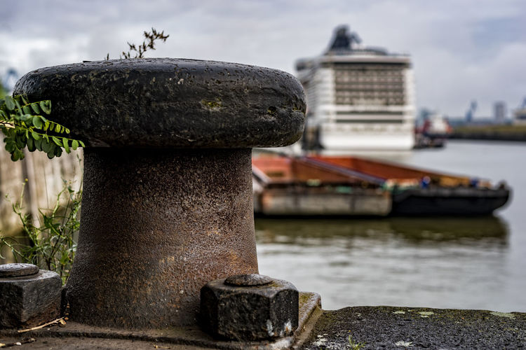 Kreuzfahrt Terminal Steinwerder Architecture Close-up Cruise Center Steinwerder Cruise Ship Day Focus On Foreground Fountain Military Nature No People Outdoors Sky Water