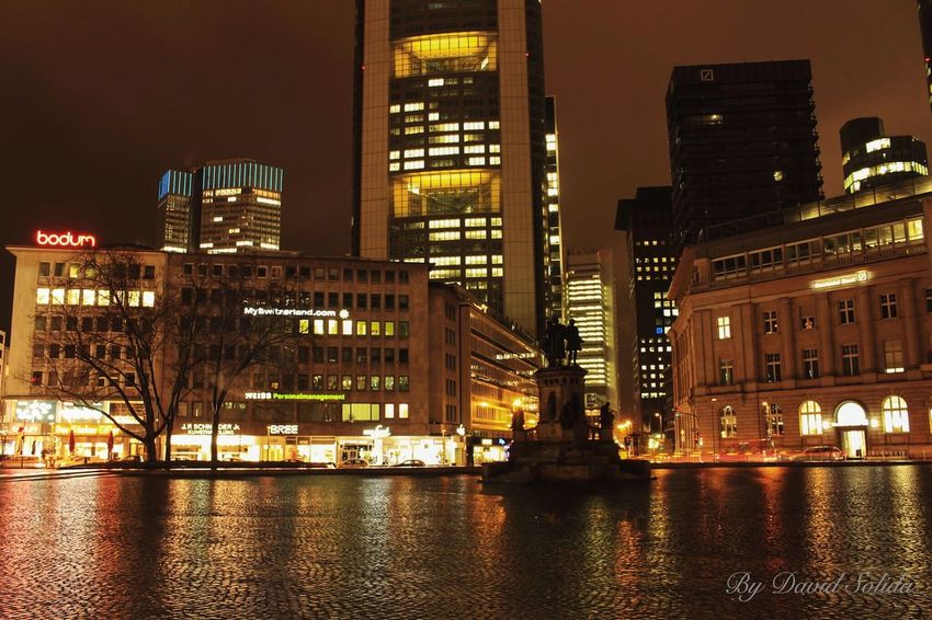Haubtwache in Frankfurt. Photography Canonphotography Architecture City Night