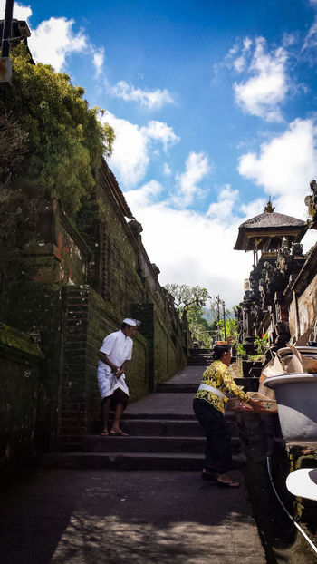 Bali Bali Cultural Heritage Culture Indonesian Indonesia_photography City Tree Full Length House Sky Architecture Building Exterior Built Structure Gate Old Town City Gate Entrance Open Door