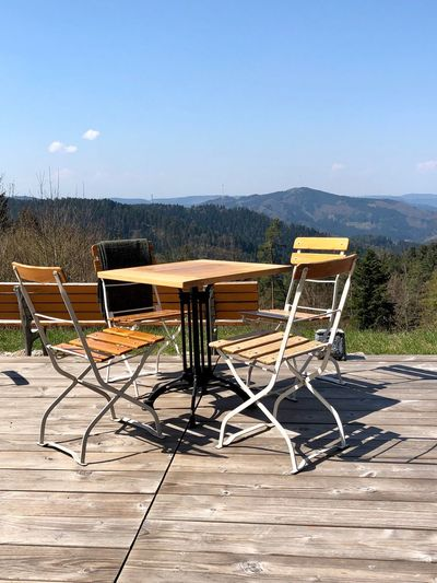 Blick in den Schwarzwald Sommerecke Kirnbach Seat Sky Chair Mountain Nature Absence No People The Great Outdoors - 2019 EyeEm Awards
