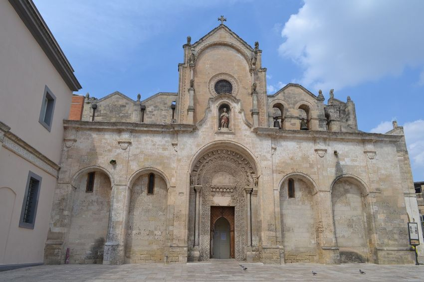 Arch Architectural Feature Architecture Archway Basilicata, Italy  Bell Tower - Tower Building Exterior Built Structure Chiesa Church Day Door Entrance Exterior Façade History In Front Of No People Outdoors Past Place Of Worship Religion Sassi Di Matera Sky Spirituality