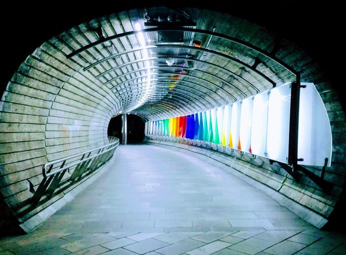 'AT THE END OF THE DAY ..' Urban Urbex City Life Photographing Oslo 2018 EyeEm Selects Multi Colored Fish-eye Lens Corridor Tunnel Subway Train Architecture Built Structure Underground Walkway Underground Light At The End Of The Tunnel Pedestrian Walkway Elevated Walkway Subway Archway Archway Archway Covered Bridge Subway Station vanishing point Diminishing Perspective Walkway Ceiling Light