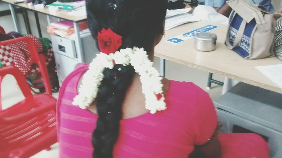 Flower Hair Style Tamil Hairstyle Elegance Everywhere