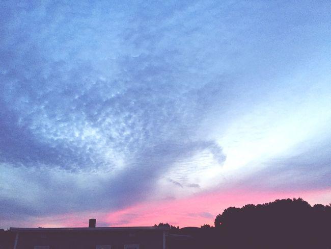 A watercolored Sky Sky Skyline