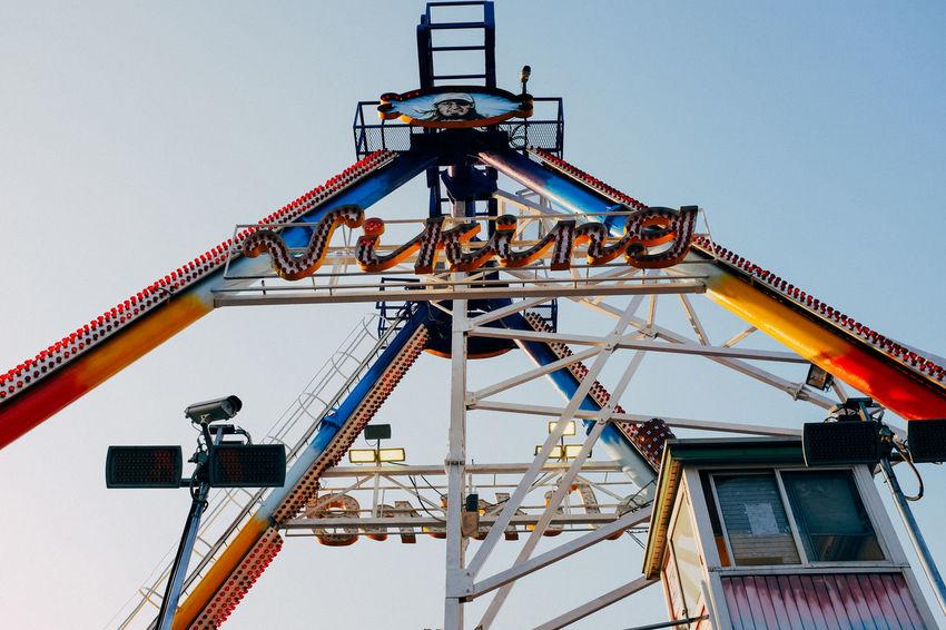 Amusement Park Amusementpark Low Angle View Metal Structure