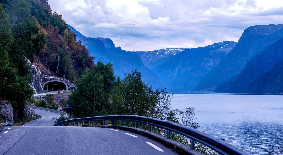 Norway VOSS Driving Around Sky Cloud - Sky Mountain Beauty In Nature Scenics - Nature Nature Water Mountain Range
