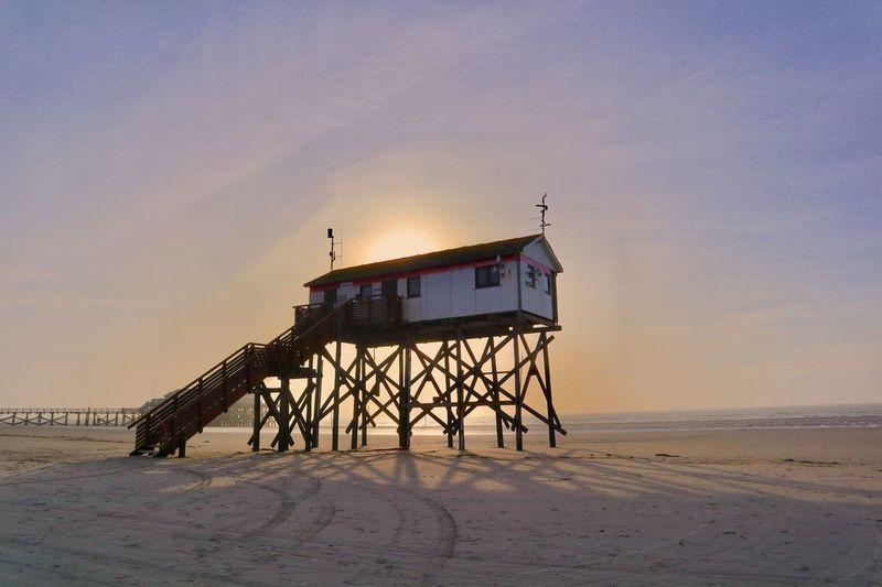 Sea Sky Beach Water Land Sand Hut