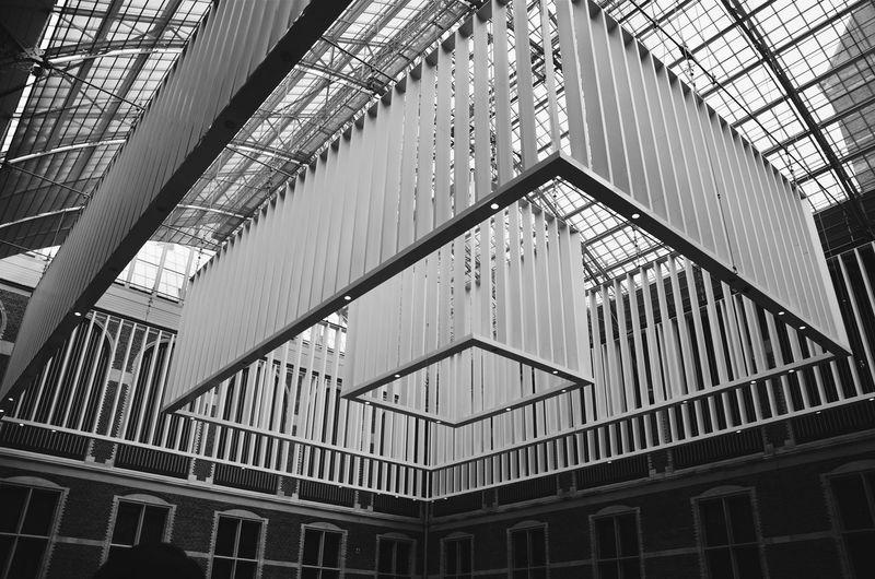 Amsterdam Architectural Design Architectural Feature Architecture Building Exterior Built Structure Bw Geometric Shape Lines Museum