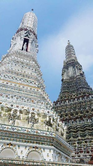 Thailand Architecture Religion Spirituality Low Angle View History Spire  Travel Bangkok Wat Arun (Temple Of Dawn)