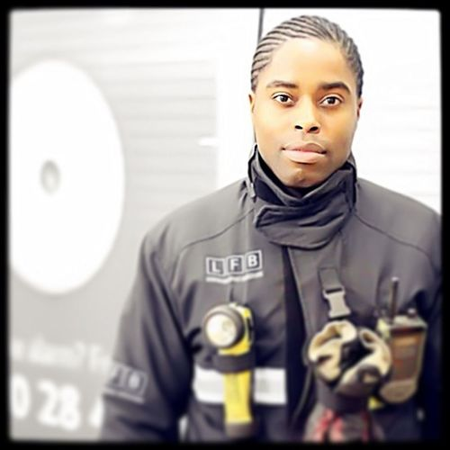 My brother @remell101 who works for London's finest! Lfb  Londonfirebrigade Firebrigade Fireman London Londoncity Londoncity Londononly Londoner Fire PublicService Fireengine