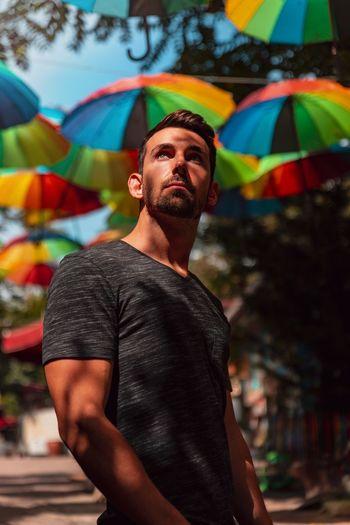Istanbul colorful umbrella
