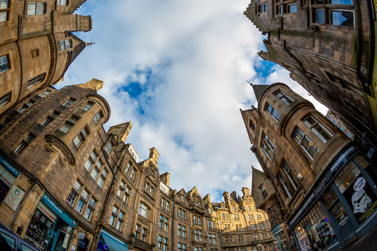 Edinburgh United Kingdom Building Architecture Old Travel City The Past History Travel Destinations Built Structure No People Building Exterior Low Angle View