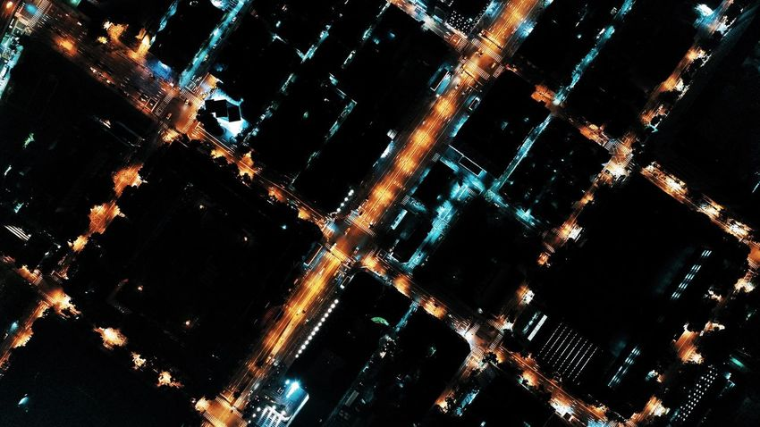 Night City Illuminated Cityscape Building Exterior Outdoors No People Architecture Skyscraper Scenics Urban Skyline Sky Star - Space Astronomy Drone  Droneshot High Angle View Aerial View Dronephotography Mavic Pro