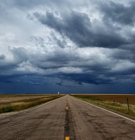 Road Landscape Outdoors Cloud - Sky Scenics The Way Forward No People Day Motor Home Vacations Grass Storm Cloud Nature Beauty In Nature Sky Horizon Beauty In Nature