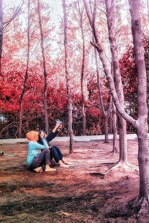 Taking Selfie @Pantai Alam Indah -Tegal Taking Photos Enjoying Life Mobile Photography Motog Motorola People