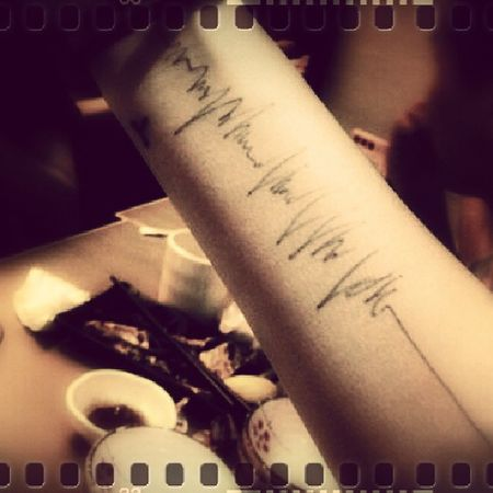 A record to count down my life Depress Living Life Body Tattoos electrocardiogram arm future still love you much