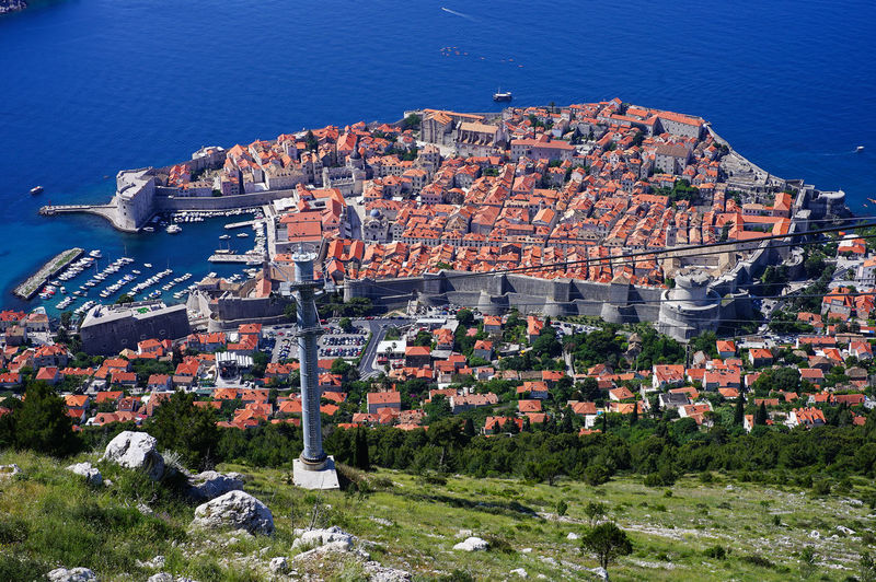 Top view of Dubrovnik, Croatia Architecture Building Exterior Built Structure Residential District City Building High Angle View Cityscape Crowded Water House Nature Roof Town Day Crowd Sea Community Outdoors TOWNSCAPE Game Of Thrones Croatia Old Town Top View Shot