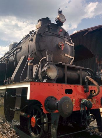 Cloud - Sky Day Historical Reenactment History Locomotive No People Old-fashioned Outdoors Rail Transportation Sky Steam Train Train - Vehicle Travel