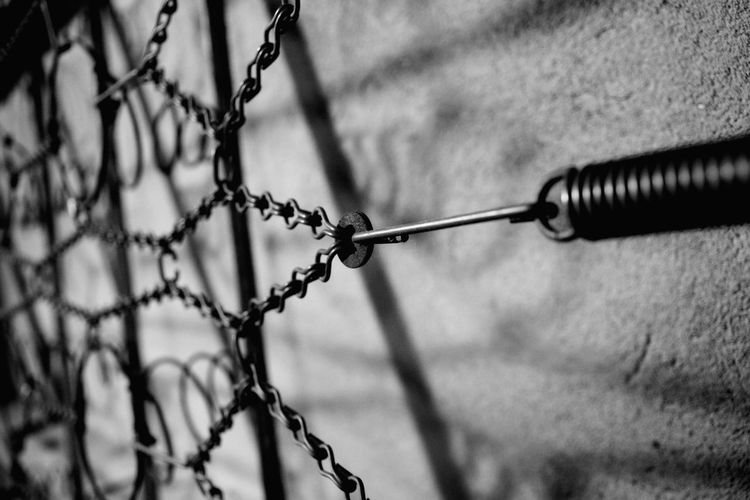 Slatted Frame Vintage Spiral Spring Spring Black And White Light And Shadow EyeEm Selects Metal Close-up