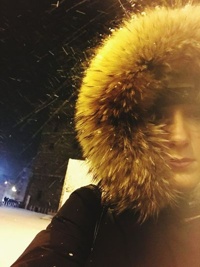 One Person Warm Clothing Outdoors Human Body Part MyLove❤ Daughterlove Cold Temperature NightInTown