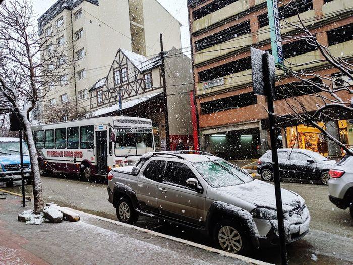 City Snowing