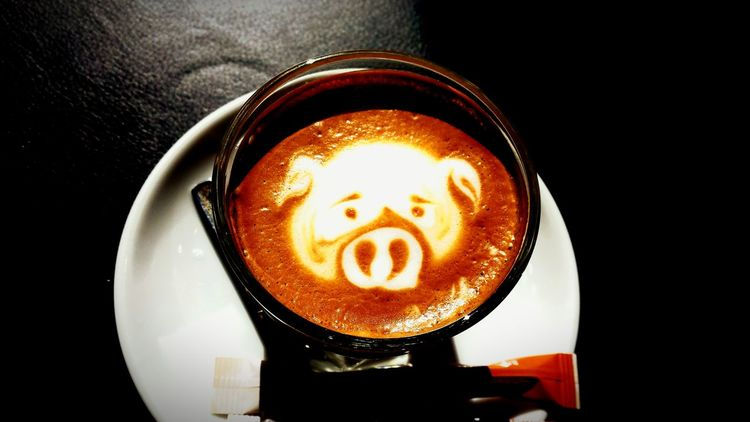 Little pig 🐷 Selfshot Pig Piggy Pig Nose Pigface Coffee Time Coffee Coffee Break Coffeelover Coffee Cup Gothenburg Cool Just Chillin'