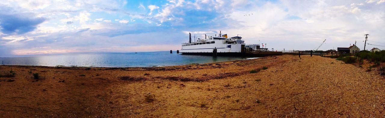 Sail Away, Sail Away Ferry Panorama Sun New York Longisland IPhoneography Clouds And Sky Beach Atlantic Ocean