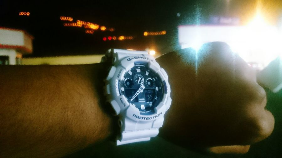 Latenight Trip time to go Home guys. Have Nice Dreams GN Good Night.. My Watch G Shock From My Point Of View City Light