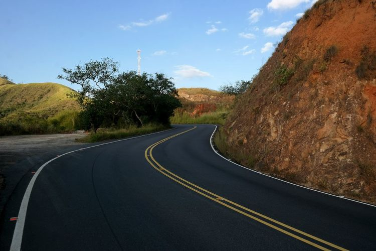 Sinuous way Road Curve No People Transportation Sky Landscape Outdoors Day Road Roadtrip Sinuous Way Asphalt Car Travel Drive Driving Driving Around Horizon Curve Vacations Travel Destinations