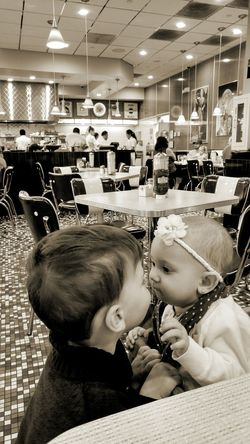 60s Fashion Dinner Time Cafe Eating Out 1st Kiss Baby Love  Cute Baby Kids Being Kids Kidsphotography My Baby Girl <3 Sepia_collection Sepia Tone Loving Sepia Love Without Boundaries Showcase: November
