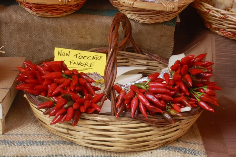 Close-up of red chilies for sale
