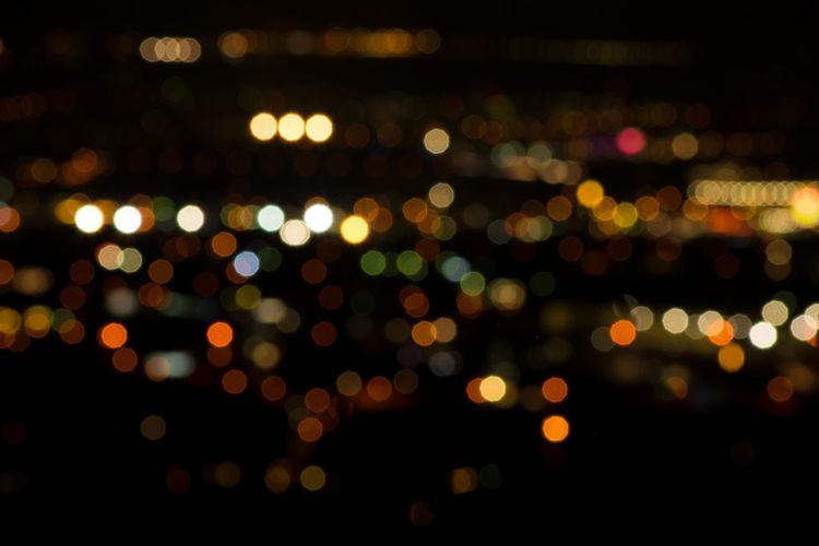 Bokeh Lights Cityscape Defocused Illuminated Multi Colored Night Nightlife Spotted