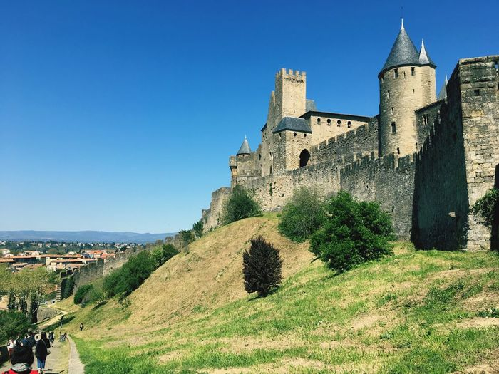 Built Structure Architecture Building Exterior Clear Sky History Grass Day Castle Outdoors Ancient Vacations Scenics Castle Carcassonne Medieval Architecture Medieval