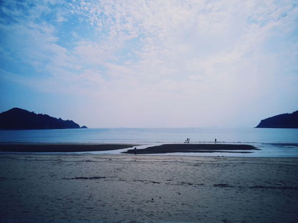Korea Sea And Sky Silence Beach Countryside Wide 남해. 조용한 해수욕장.