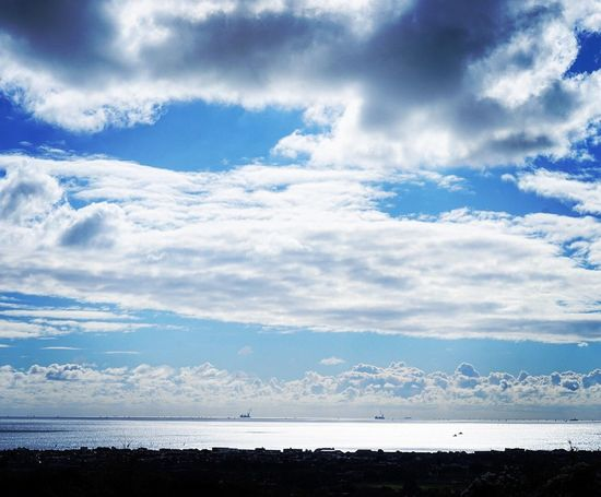 Out to sea Tranquility Tranquil Scene Beauty In Nature Scenics Sky Cloudscape Water Sea Cloud Blue Nature Calm Cloud - Sky Idyllic Non-urban Scene Ocean Day Remote Cumulus Cloud Solitude Lancing  Worthing