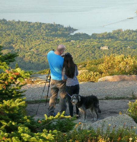People And Places Dogs Of EyeEm Love Without Boundaries Loyal Friend Doglovers Beauty In Nature Eyemphotography EyeEm Nature Lover EyeEm Best Shots - Landscape Outdoors Non-urban Scene Nature Rock Cadillac Mountain High Angle View U.S.A Goldenhour Togetherness Mountain Photographer Ph