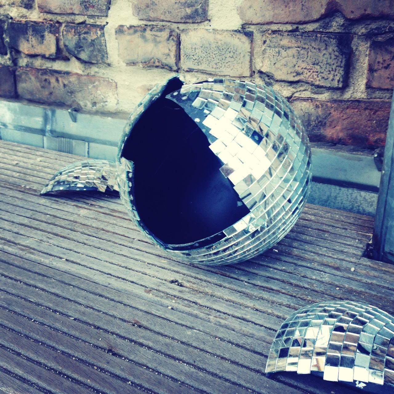 Broken disco ball