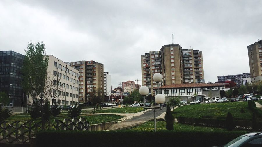University PRISHTINA Campus Green April Grey Sky