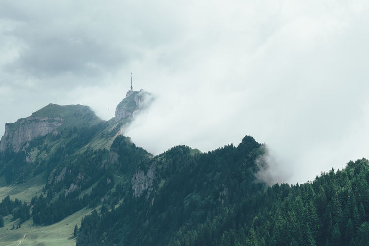 Scenic View Of Clouds And Hoher Kasten