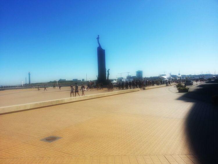 Summer Views Hot Day Belgium. Belgique. Belgie. Belgien. Etc. Shadow And Light Ostend Promenade