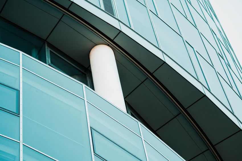 Architecture Building Building Exterior Built Structure City Day Geometric Shape Glass - Material Low Angle View Modern Nature No People Office Office Building Exterior Outdoors Pattern Reflection Silver Colored Sky Skyscraper Twodayscologne Window