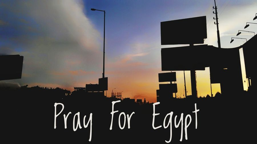 Pray For Egypt Mourning Cloud - Sky Sunset Sky No People Outdoors Night