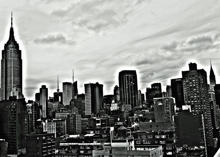 Cityscapes Urban Blackandwhite Myview Myvillage💜 Mobilephotography From The Rooftop Nycphotography Nyskyline Architecture Skyscraper Building Exterior City Cityscape Built Structure Tower Modern Tall - High Skyline Sky Downtown District Urban Skyline Outdoors Tall