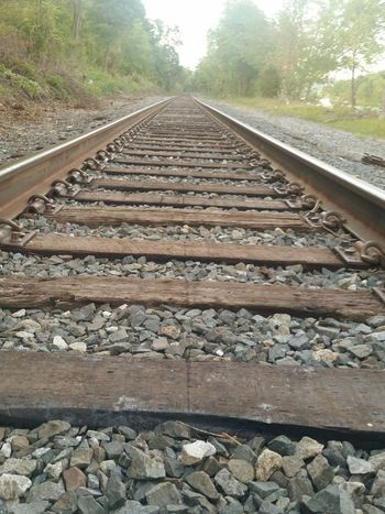 Railroad Tracks Railroadphotography Parallel Lines Gravel