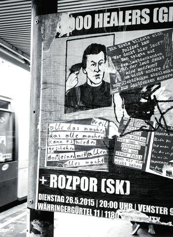 zetteldichter strikes again Street Poetry Bnw Blackandwhite Monochrome Street Photography Streetart Wien Hello World Silent Protest  Zetteldichter
