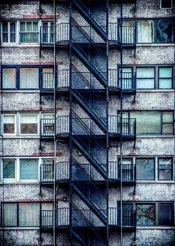 Stairs and Windows Urban Geometry Urban Life Fireescape Fire Escape Apartment Buildings NYC Photography Urban Art Gotham Windows Streetphotography