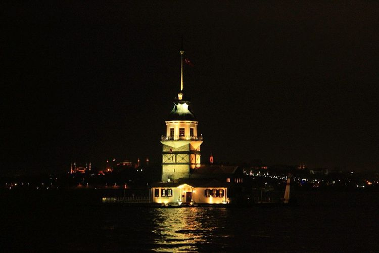 Outdoors Architecture Tower Night Illuminated No People Sea Nautical Vessel City Nature First Eyeem Photo