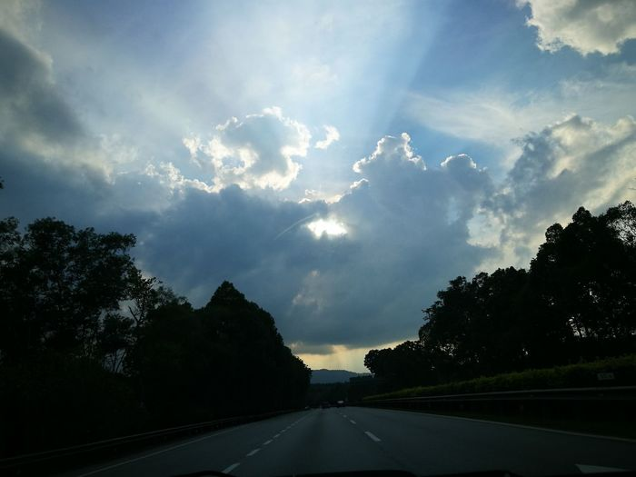 Highway Road No People Outdoors Sunset Pagoh Yongpeng Highway Beauty In Nature