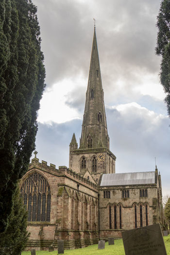 Ashbourne Church Architecture Bell Tower Building Exterior Built Structure Cloud - Sky Day History Low Angle View No People Outdoors Place Of Worship Religion Sky Spirituality Tree